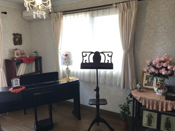 発声練習とレッスン室 Studio del Canto